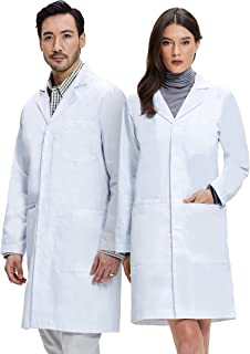 cotton lab coat cloth buttons