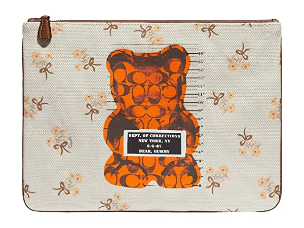 COACH Gummy Bear Canvas Large Wristlet 30
