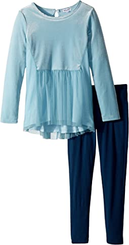 Splendid Littles - Velour/Tulle Leggings Set (Little Kids)