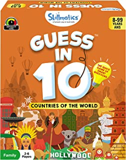 Skillmatics Guess in 10 Countries of The World   Card Game of Smart Questions for Kids   Gifts for Ages 8-99