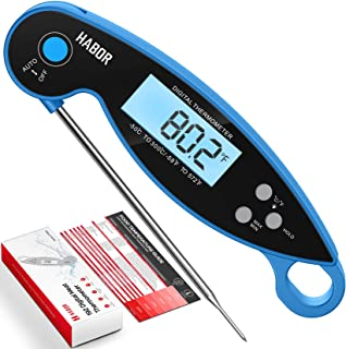 Habor Digital Meat Thermometer Upgraded Waterproof, 3s Instant Read Digital Cooking Thermometer, Kitchen Food Thermometer ...