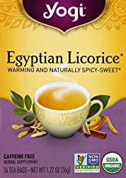 Yogi Tea Organic Egyptian Licorice Tea, 16 Bags, 1.27 oz