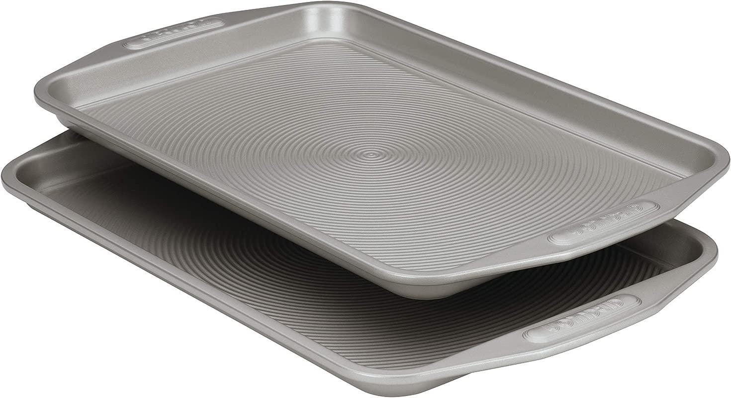 Circulon Nonstick Bakeware 2 Piece Baking Sheet Bakeware Set Gray