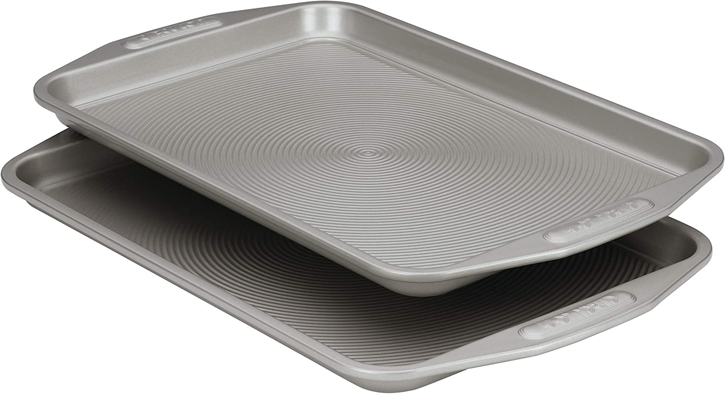 Circulon Nonstick Bakeware 2 Piece Baking Sheet Bakeware Set Gray