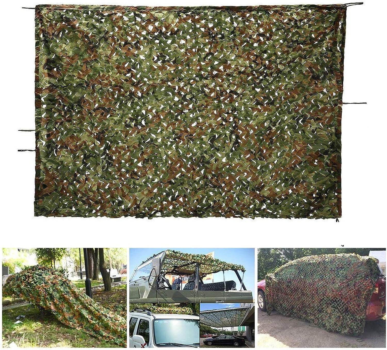 JJWZW Woodland-Tarnnetz, 5  6 M Verstrktes Polyester-Tarnnetz Camping Military Hunting Shooting Sunscreen-Netz, Dschungeltarnung (Größe   4  20M(13.1  65.6ft))