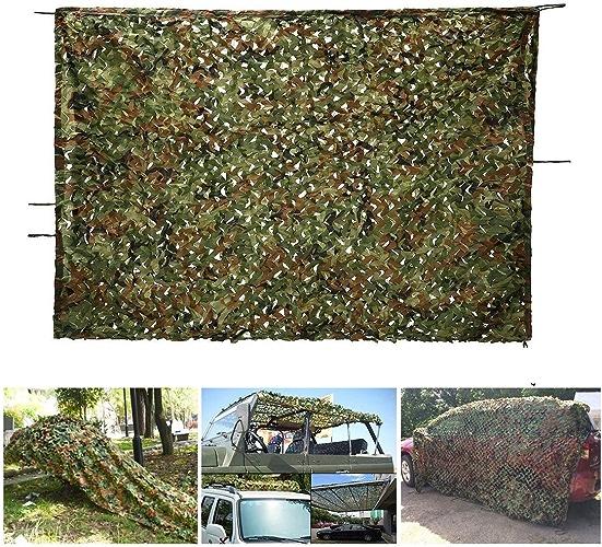Filet De Camouflage boisland, Filet De Camouflage en Polyester Renforcé, Camping Militaire, Chasse Militaire, Tir à Crème Solaire, Camouflage dans La Jungle (Taille   4  5M(13.1  16.4ft))