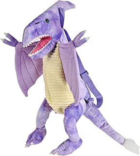 Plush Dinosaur Childrens Travel and Adventure Toys Toddler Backpack Bag for Boys and Girls - Pteranodon