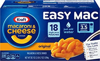 Kraft Easy Mac Original Flavor Single Serve Pouches, 18 ct - 38.7 oz Box