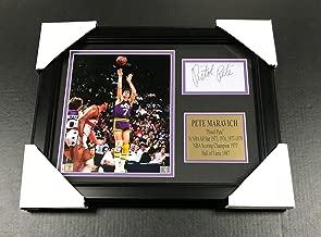 Autographed Pete Maravich Photo - Cut Facsimile Reprint Framed 8x10 - Autographed NBA Photos