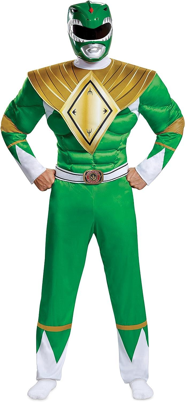 100% a estrenar con calidad original. Disguise Power Rangers Men's verde Ranger Fancy Dress Costume Costume Costume 2X-Large  más vendido