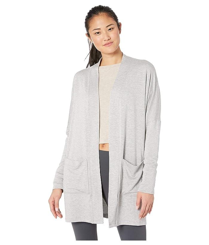 Beyond Yoga Classic Dolman Cardigan (Light Heather Gray) Women's Sweater