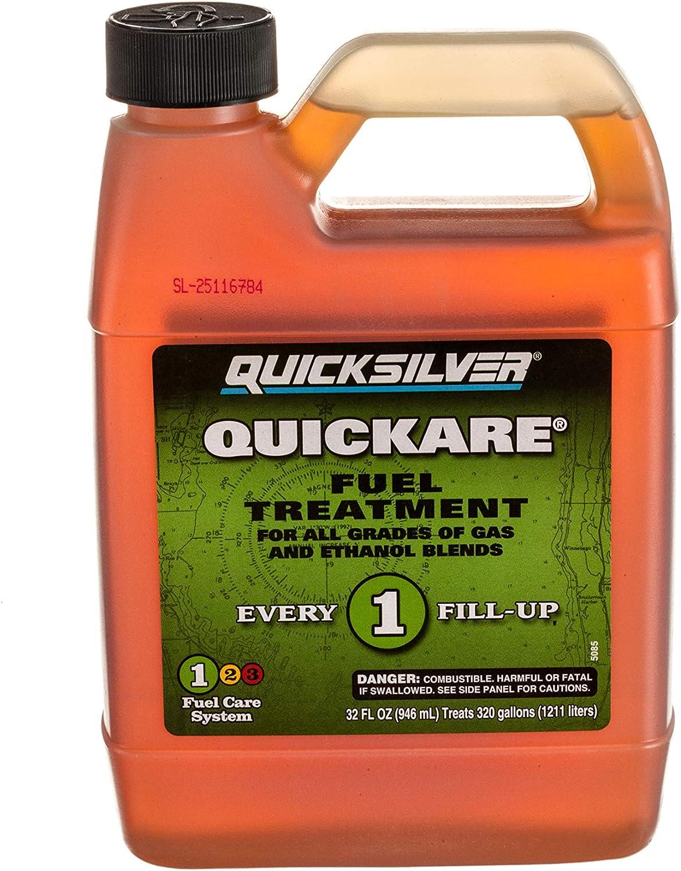 Quicksilver 8M0058680 32 oz Quickare Fuel Treatment