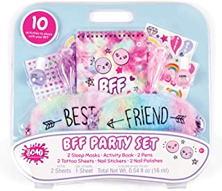 Three Cheers for Girls - BFF Party Set - Pastel Tie Dye - Sleepover Party Set and Nail Kit for Kids - Includes Nail Polish...