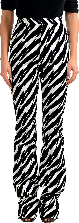 DSQUARED2 Multi-Color Velour Straight Leg Women's Casual Pants US XS IT 38