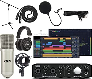 Mackie Onyx Producer 2-2 Audio/Midi interface With Pro Tools First/Tracktion Music Production Software Studio Bundle with ...