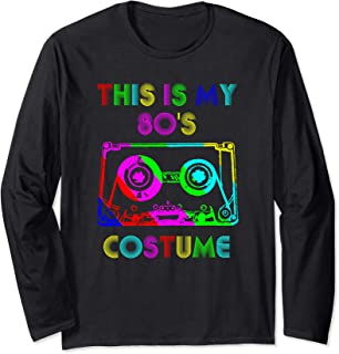 Cassette Tape - This is my 80s Costume Mixtape Retro Music Long Sleeve T-Shirt