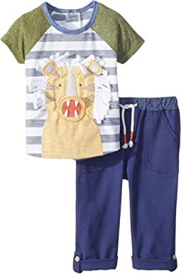 Mud Pie Tiger Two-Piece Pants Set (Infant)