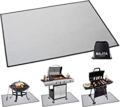 Rectangular Fire Pit Pad Grill Mat Deck Protector,Portable Camping Accessories Fireproof Mat- Prevent Your Deck Patio & Gr...