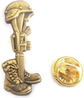 Fallen Soldier Battlefield Cross Hat Jacket Vest Tie Tack Lapel Pin