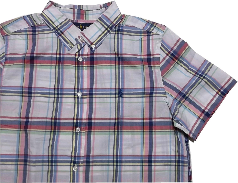 (ポロ ラルフローレン) ボーイズサイズ ボタンダウンシャツ 半袖 ホワイト Polo Ralph Lauren 1023 [並行輸入品]