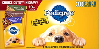 Best Pedigree Choice Cuts in Gravy Adult Wet Dog Food Variety Packs, 3.5 Oz. Pouches Review