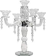 allgala 5-Arm Crystal Candelabra Taper Candlestick Candle Holder