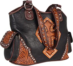 Tooled Cross Shoulder Bag