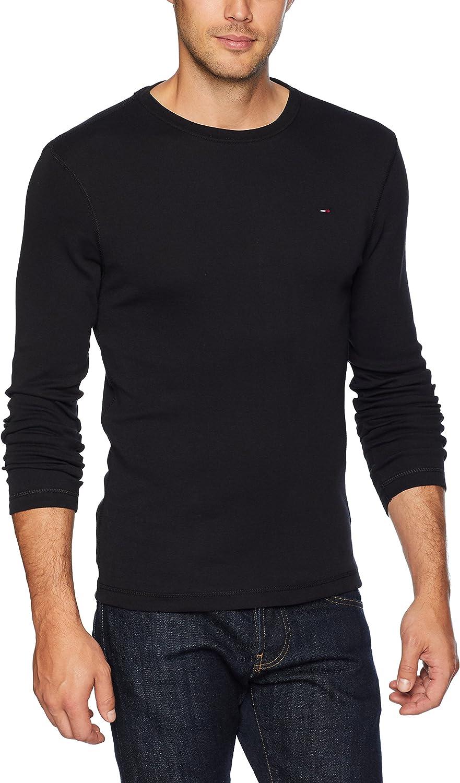 Tommy Hilfiger Rib Long Sleeve T-Shirt BNWT Black