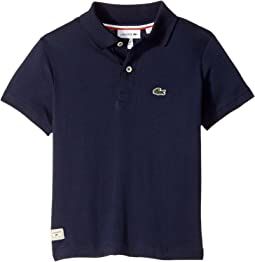 Short Sleeve Solid Jersey Polo (Toddler/Little Kids/Big Kids)