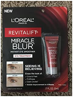 L'Oreal Paris Revitalift Miracle Blur Instant Eye Treatment Finishing Cream with Broad Spectrum SPF 30 Sunscreen 0.17 FL OZ (5ml)