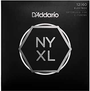D'Addario NYXL1260 Nickel Plated Electric Guitar Strings,Extra Heavy,12-60 – High Carbon Steel Alloy for Unprecedented Strength – Ideal Combination of Playability and Electric Tone