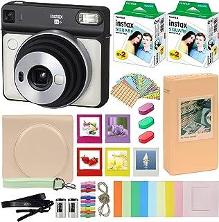 Fujifilm Instax Square SQ6 - Cámara instantánea con funda de transporte + Fuji Instax Film Value Pack (40 hojas) paquete d...