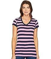 U.S. POLO ASSN. - Lace Trim V-Neck T-Shirt