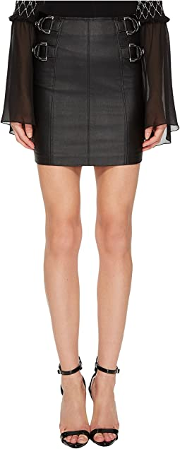 Versace Jeans Side Cinched Belted Skirt