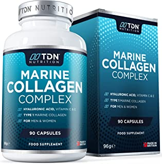 High Strength 1400mg Sustainable Marine Collagen Supplement - 3X More bioavailable with Peptan© Hydrolysed Collagen and c-...