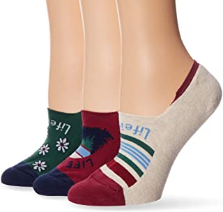 Life is Good Women's 3-Pack Invisible No Show Socks