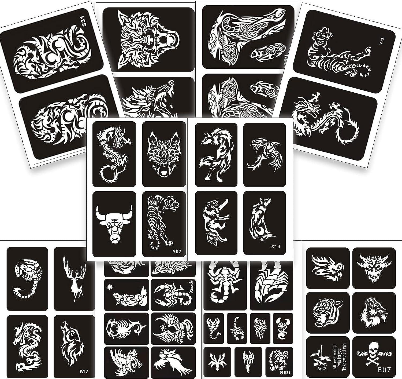Henna Tattoos Stencils 10 Sheet Size Tattoo Large 2021 new gift Temp Temporary