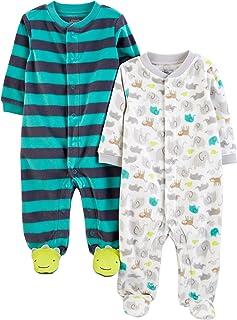 Simple Joys by Carter's 2-Pack Fleece Footed Sleep and Play Bebé-Niños, Pack de 2