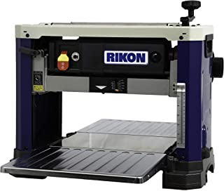 """RIKON 25-135H   13"""" Portable Planer with a 6-Row Helical-Style Cutter Head and 26 HSS Insert Cutters featuring alternating..."""