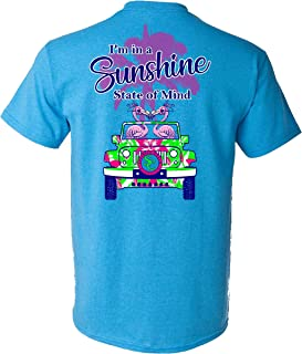 Southern Charm Collection I'm in a Sunshine State of Mind on a Heather Saphire T Shirt