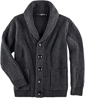 Men's Knitwear Button Down Shawl Collar Cardigan Sweater with Pockets