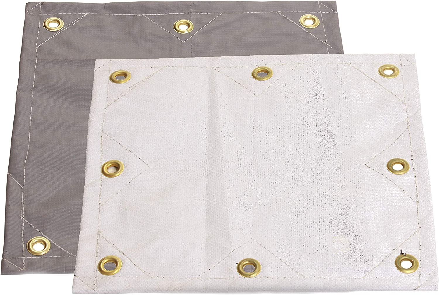 Gray//White Mold and Mildew Resistant! 10x12 16.5 MIL Super-Strong Poly Tarp Cover Water