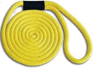3/8 x 10' Solid Braid Dock Line - Yellow