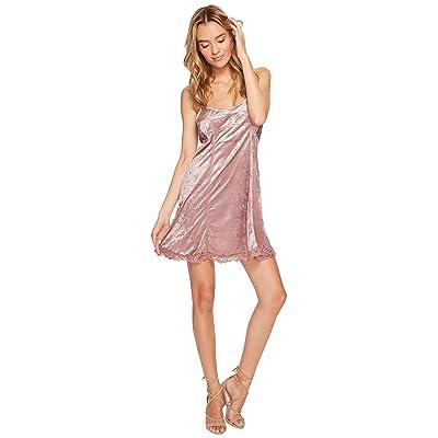 Free People Cheeky Velvet Mini Dress (Mauve) Women