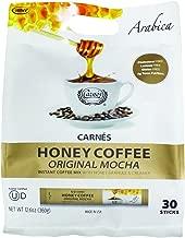 Carnes Premium Instant Coffee Mix with Honey Powder (Original Mocha, 30 Count)