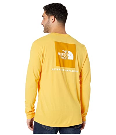 The North Face Long Sleeve Red Box T-Shirt (TNF Yellow) Men