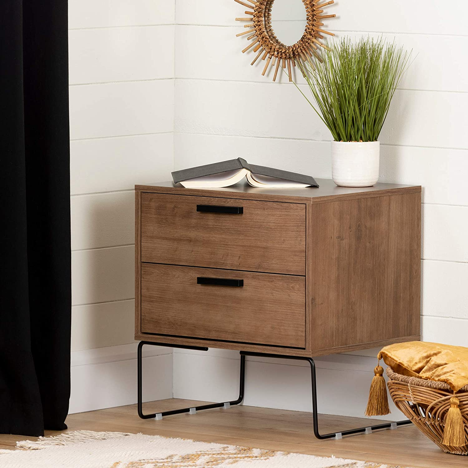 Discount is also underway South Shore Slendel Nightstand-Exotic Ranking TOP7 Wood