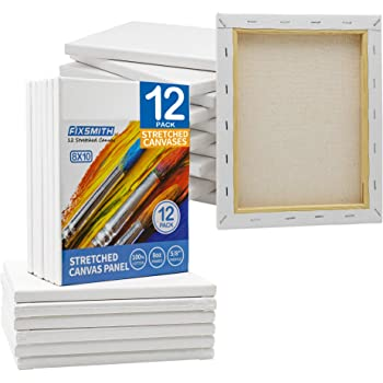 Classic - 8 Pack Gonioa 12x12 Stretched White Blank Square Canvas ​for Painting Oil Paint /& Wet Art Media ​,100/% Cotton Primed Acrylic Pouring