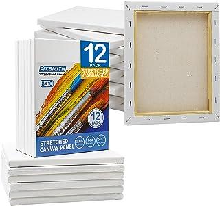 FIXSMITH بوم کشیده شده سفید بوم 8x10 اینچ ، فله بسته 12 عیار ، 100 ed پنبه ، 5/8 اینچ مشخصات سوپر ارزش برای آکریلیک ، روغن و سایر رسانه های نقاشی.
