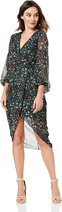 Cooper St Women's Nightbird Long Sleeve Drape Dress